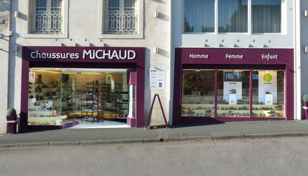 Chaussures Michaud-magasin-Fontenay-le-Comte-realisation-enseigne